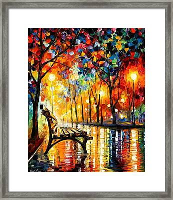 The Loneliness Of Autumn Framed Print