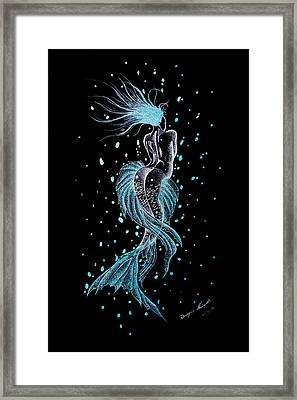The Lonely Mermaid   Framed Print