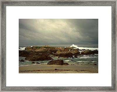 The Lonely Sea And Sky Framed Print by Joyce Dickens