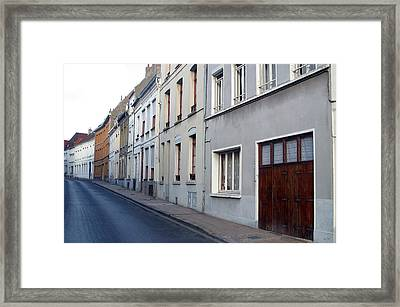 The Lonely Street Framed Print by Jez C Self