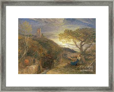 The Lonely Tower Framed Print by Samuel Palmer