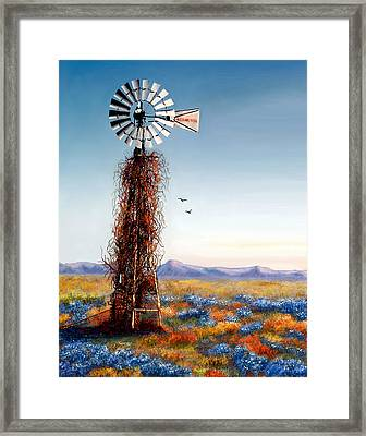 The Lonely Windmill Framed Print