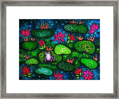 The Lonesome Frog Framed Print by Brenda Higginson