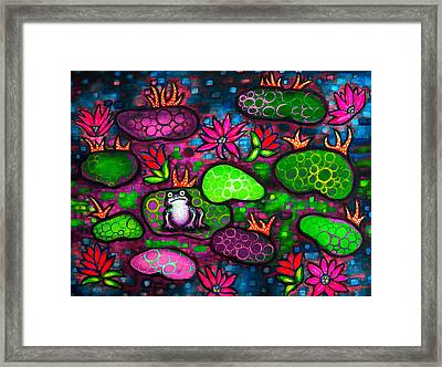 The Lonesome Frog II Framed Print by Brenda Higginson