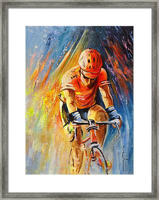 The Lonesome Rider Framed Print