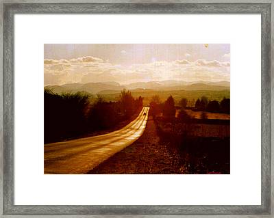 The Long And Lonely Road....... Framed Print