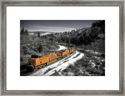 The Long And Winding Load Framed Print