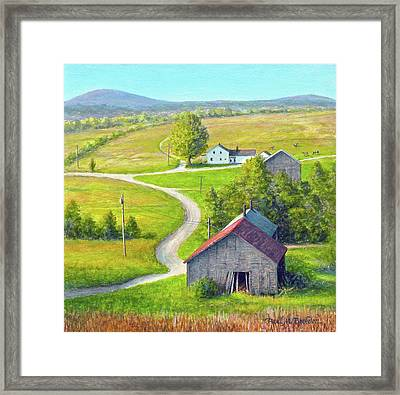 The Long And Winding Road Framed Print by Paul Breeden