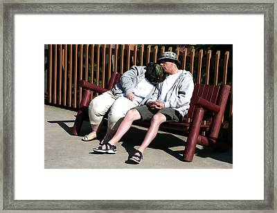 The Long Day Framed Print by Robert Sako