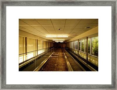 The Long Hall Framed Print