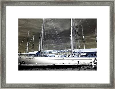 The Long Hull Framed Print by John Rizzuto