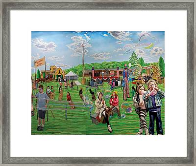 The Long Island Fair At Old Bethpage Restoration Framed Print