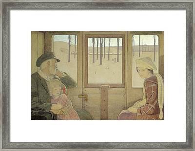 The Long Journey Framed Print by Frederick Cayley Robinson