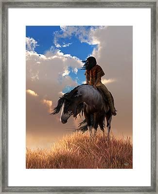 Framed Print featuring the digital art The Long Journey Home by Daniel Eskridge