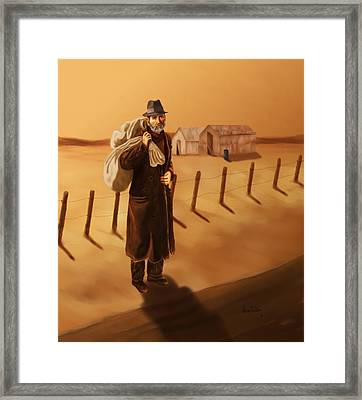 Framed Print featuring the painting The Long Journey by Sena Wilson