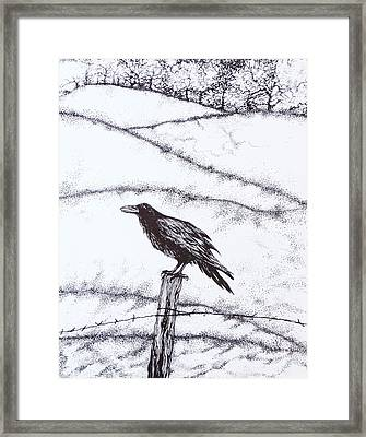 The Long Long Winter Framed Print by Anna  Duyunova