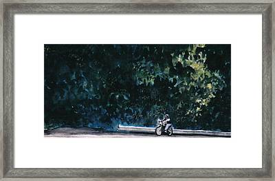 the Long Ride Framed Print by Saundra Lee York