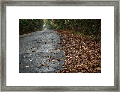 The Long Road Home Framed Print