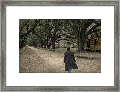 The Long Road Home Framed Print