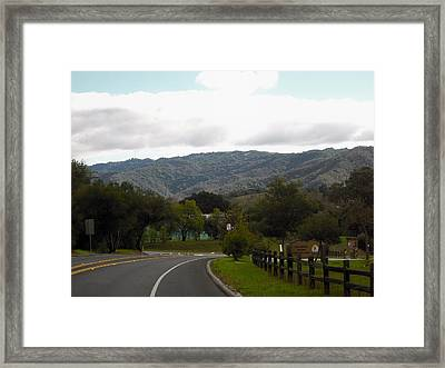 The Long Road Framed Print by Sharon McKeegan