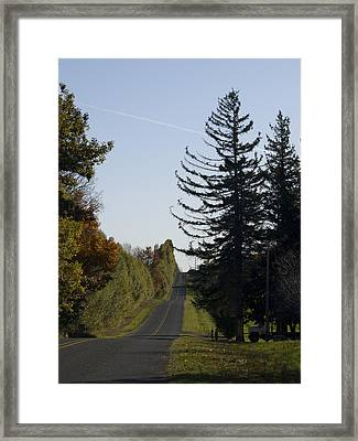 The Long Road Framed Print by Tara Lynn