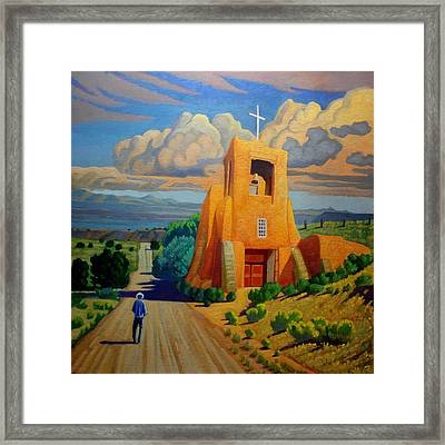 The Long Road To Santa Fe Framed Print by Art West