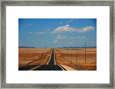The Long Road To Santa Fe Framed Print by Susanne Van Hulst