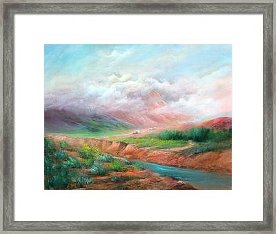 The Long Trail Framed Print by Sally Seago