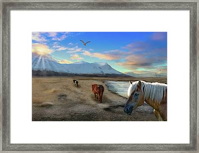 The Long Trek Framed Print