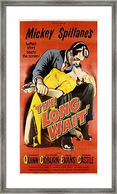 The Long Wait, Anthony Quinn, Peggie Framed Print by Everett