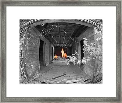 The Long Walk Framed Print by Elizabeth Reynders