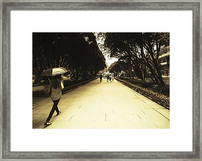 The Long Walk Framed Print by Patrick Kain