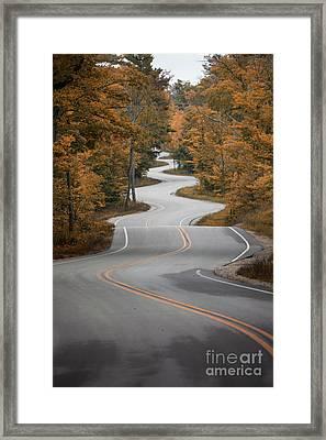 The Long Winding Road Framed Print