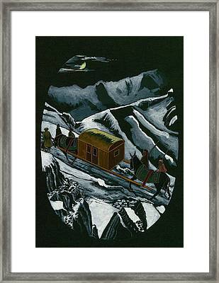 The Long Winter Journey To Baghdad Framed Print by Sue Podger