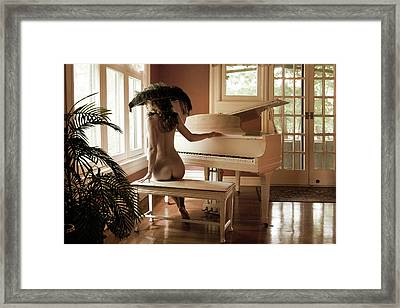 Framed Print featuring the photograph The Longing by Dario Infini