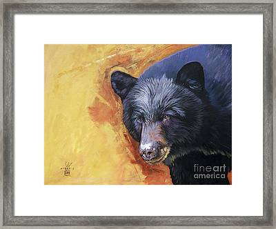 The Look Framed Print by J W Baker