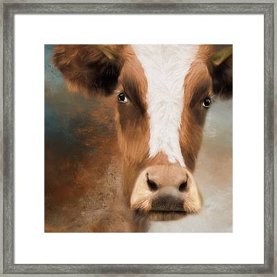 Framed Print featuring the photograph The Look by Robin-Lee Vieira