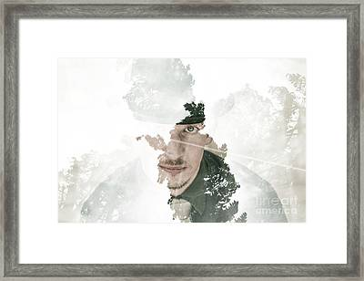 The Looking Glass Forest Man Framed Print by Jorgo Photography - Wall Art Gallery