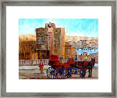 The Lookout On Mount Royal Montreal Framed Print by Carole Spandau