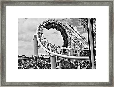 The Loop Black And White Framed Print