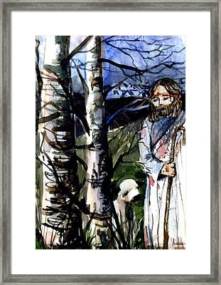 The Lord Is My Shephard Framed Print by Mindy Newman