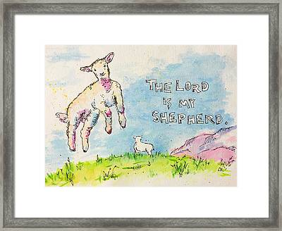 Framed Print featuring the painting The Lord Is My Shepherd by Chris Rice
