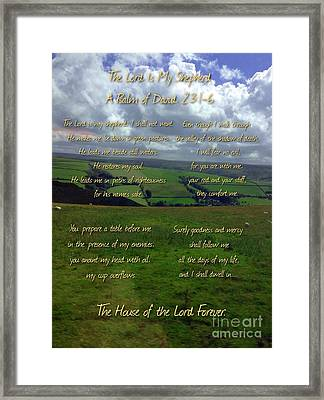 The Lord Is My Shepherd Framed Print by Joan-Violet Stretch