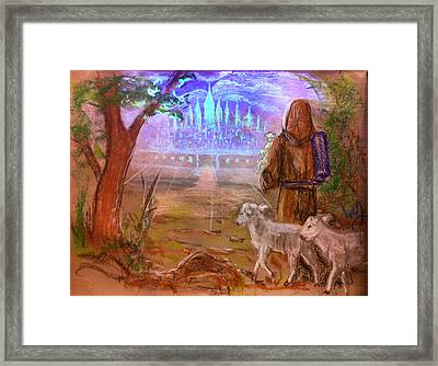 Framed Print featuring the painting The Lord Is My Shepherd by Mike Ivey