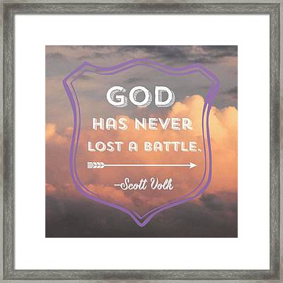"""""""the Lord Is My Strength And My Framed Print"""
