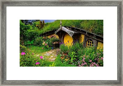 The Lord Of The Rings Hobbit House                Framed Print