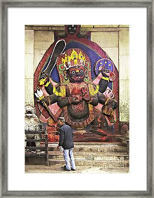 The Lord Of Time - Kala Bhairava Framed Print by Gabriele Pomykaj