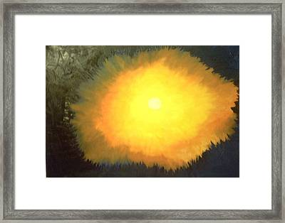 The Lord Said  Let There Be Light  Framed Print by Harris Gulko