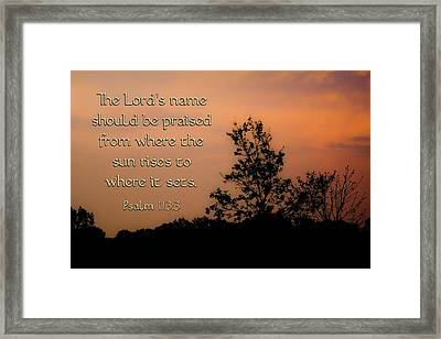 The Lord's Name Framed Print