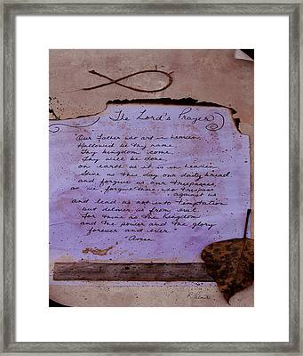 The Lord's Prayer Collage Framed Print by Ruth Palmer